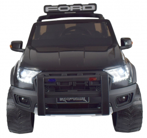 Masinuta electrica politie Premier Ford Raptor, 12V, roti cauciuc EVA, scaun piele ecologica negru8