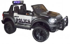 Masinuta electrica politie Premier Ford Raptor, 12V, roti cauciuc EVA, scaun piele ecologica negru3