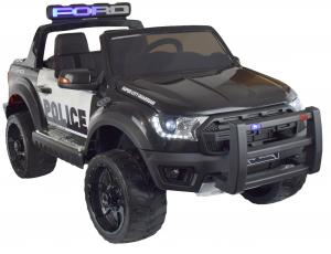 Masinuta electrica politie Premier Ford Raptor, 12V, roti cauciuc EVA, scaun piele ecologica negru2