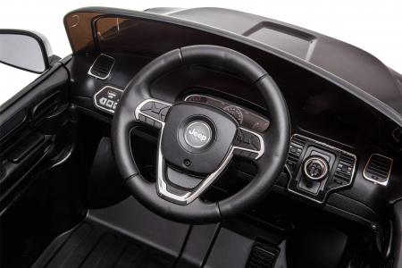 Masinuta electrica Premier Jeep Grand Cherokee, 12V, roti cauciuc EVA, scaun piele ecologica, negru [19]