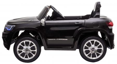 Masinuta electrica Premier Jeep Grand Cherokee, 12V, roti cauciuc EVA, scaun piele ecologica, negru [5]
