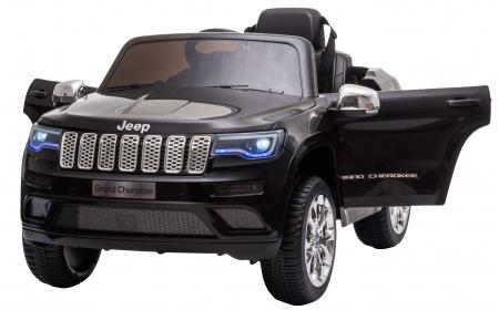 Masinuta electrica Premier Jeep Grand Cherokee, 12V, roti cauciuc EVA, scaun piele ecologica, negru [1]