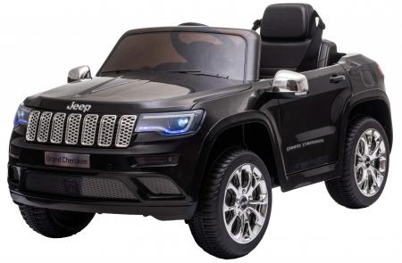 Masinuta electrica Premier Jeep Grand Cherokee, 12V, roti cauciuc EVA, scaun piele ecologica, negru [4]