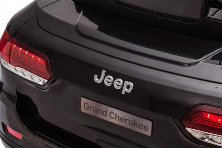 Masinuta electrica Premier Jeep Grand Cherokee, 12V, roti cauciuc EVA, scaun piele ecologica, negru [17]