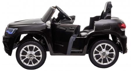 Masinuta electrica Premier Jeep Grand Cherokee, 12V, roti cauciuc EVA, scaun piele ecologica, negru [12]