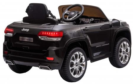 Masinuta electrica Premier Jeep Grand Cherokee, 12V, roti cauciuc EVA, scaun piele ecologica, negru [8]