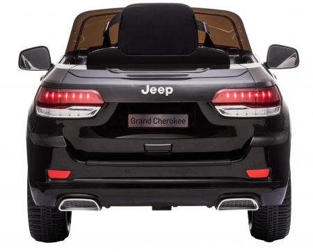 Masinuta electrica Premier Jeep Grand Cherokee, 12V, roti cauciuc EVA, scaun piele ecologica, negru [7]