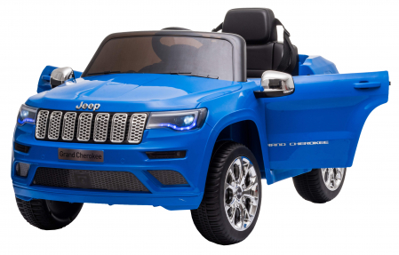 Masinuta electrica Premier Jeep Grand Cherokee, 12V, roti cauciuc EVA, scaun piele ecologica, albastru [10]