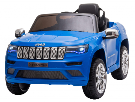 Masinuta electrica Premier Jeep Grand Cherokee, 12V, roti cauciuc EVA, scaun piele ecologica, albastru [0]