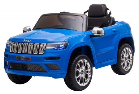 Masinuta electrica Premier Jeep Grand Cherokee, 12V, roti cauciuc EVA, scaun piele ecologica, albastru [4]