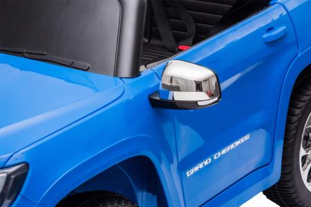 Masinuta electrica Premier Jeep Grand Cherokee, 12V, roti cauciuc EVA, scaun piele ecologica, albastru [15]