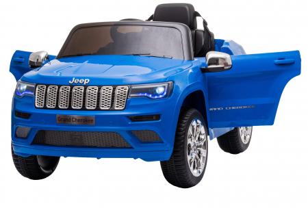 Masinuta electrica Premier Jeep Grand Cherokee, 12V, roti cauciuc EVA, scaun piele ecologica, albastru [9]