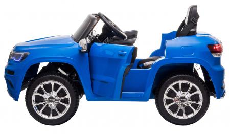 Masinuta electrica Premier Jeep Grand Cherokee, 12V, roti cauciuc EVA, scaun piele ecologica, albastru [11]