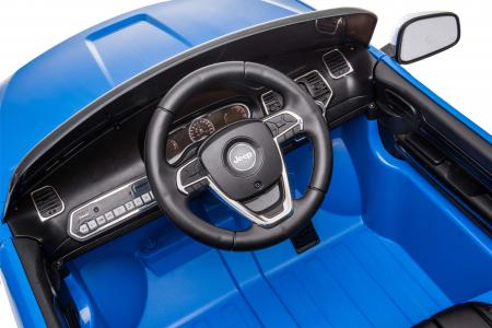 Masinuta electrica Premier Jeep Grand Cherokee, 12V, roti cauciuc EVA, scaun piele ecologica, albastru [21]