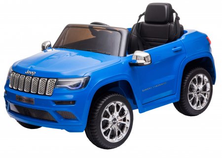 Masinuta electrica Premier Jeep Grand Cherokee, 12V, roti cauciuc EVA, scaun piele ecologica, albastru [13]