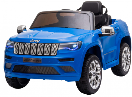Masinuta electrica Premier Jeep Grand Cherokee, 12V, roti cauciuc EVA, scaun piele ecologica, albastru [3]