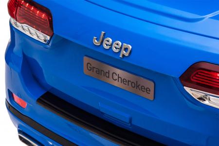 Masinuta electrica Premier Jeep Grand Cherokee, 12V, roti cauciuc EVA, scaun piele ecologica, albastru [16]