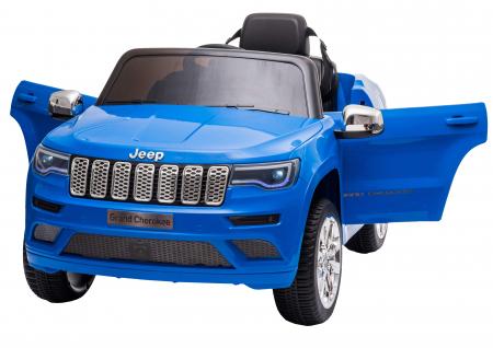 Masinuta electrica Premier Jeep Grand Cherokee, 12V, roti cauciuc EVA, scaun piele ecologica, albastru [1]