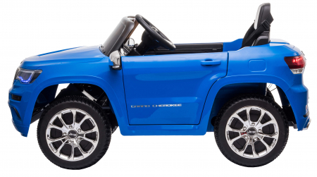 Masinuta electrica Premier Jeep Grand Cherokee, 12V, roti cauciuc EVA, scaun piele ecologica, albastru [5]