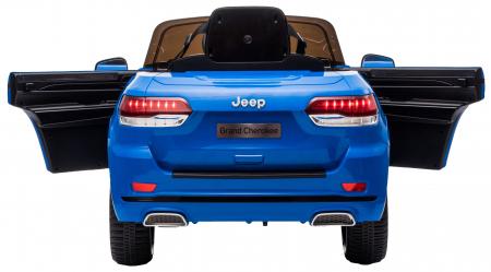 Masinuta electrica Premier Jeep Grand Cherokee, 12V, roti cauciuc EVA, scaun piele ecologica, albastru [12]
