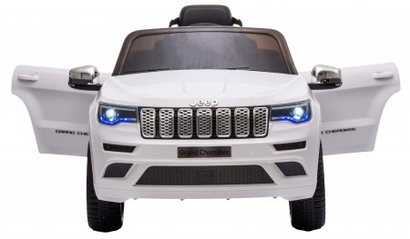Masinuta electrica Premier Jeep Grand Cherokee, 12V, roti cauciuc EVA, scaun piele ecologica, alb [10]