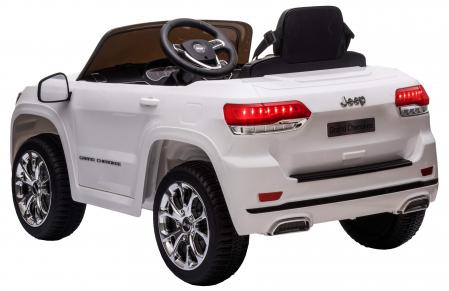 Masinuta electrica Premier Jeep Grand Cherokee, 12V, roti cauciuc EVA, scaun piele ecologica, alb [6]