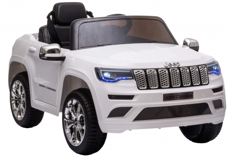 Masinuta electrica Premier Jeep Grand Cherokee, 12V, roti cauciuc EVA, scaun piele ecologica, alb [9]
