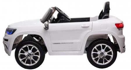 Masinuta electrica Premier Jeep Grand Cherokee, 12V, roti cauciuc EVA, scaun piele ecologica, alb [5]