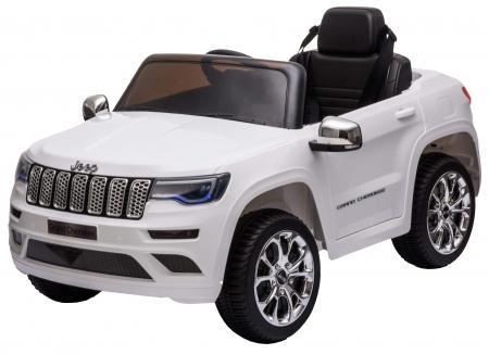 Masinuta electrica Premier Jeep Grand Cherokee, 12V, roti cauciuc EVA, scaun piele ecologica, alb [14]
