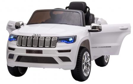 Masinuta electrica Premier Jeep Grand Cherokee, 12V, roti cauciuc EVA, scaun piele ecologica, alb [1]