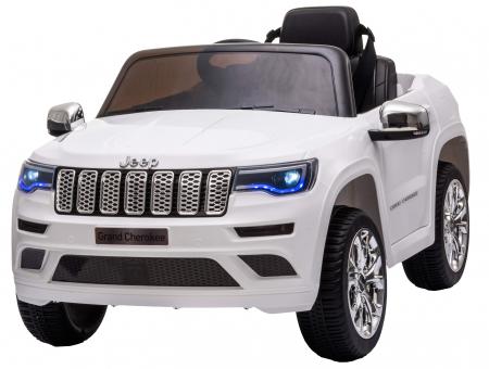 Masinuta electrica Premier Jeep Grand Cherokee, 12V, roti cauciuc EVA, scaun piele ecologica, alb [0]