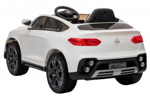 Masinuta electrica Premier Mercedes GLC Concept Coupe, 12V, roti cauciuc EVA, scaun piele ecologica, alb [4]