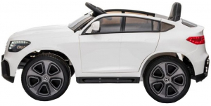 Masinuta electrica Premier Mercedes GLC Concept Coupe, 12V, roti cauciuc EVA, scaun piele ecologica, alb [2]