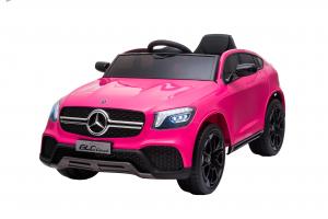 Masinuta electrica Premier Mercedes GLC Concept Coupe, 12V, roti cauciuc EVA, scaun piele ecologica, roz3