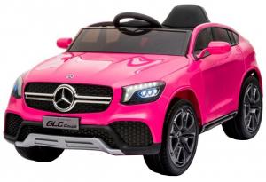 Masinuta electrica Premier Mercedes GLC Concept Coupe, 12V, roti cauciuc EVA, scaun piele ecologica, roz0