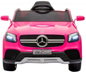 Masinuta electrica Premier Mercedes GLC Concept Coupe, 12V, roti cauciuc EVA, scaun piele ecologica, roz5