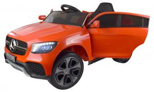 Masinuta electrica Premier Mercedes GLC Concept Coupe, 12V, roti cauciuc EVA, scaun piele ecologica, rosu5