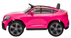 Masinuta electrica Premier Mercedes GLC Concept Coupe, 12V, roti cauciuc EVA, scaun piele ecologica, roz2