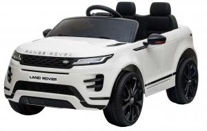 Masinuta electrica Premier Range Rover Evoque, 12V, roti cauciuc EVA, scaun piele ecologica, alb [0]