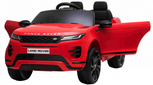 Masinuta electrica Premier Range Rover Evoque, 12V, roti cauciuc EVA, scaun piele ecologica, rosu [4]