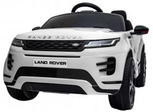 Masinuta electrica Premier Range Rover Evoque, 12V, roti cauciuc EVA, scaun piele ecologica, alb [15]