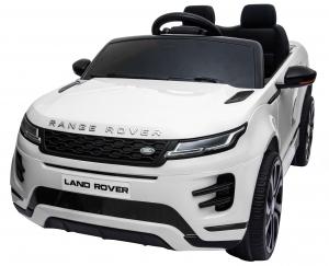 Masinuta electrica Premier Range Rover Evoque, 12V, roti cauciuc EVA, scaun piele ecologica, alb [14]
