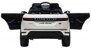 Masinuta electrica Premier Range Rover Evoque, 12V, roti cauciuc EVA, scaun piele ecologica, alb [12]