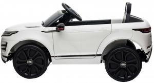 Masinuta electrica Premier Range Rover Evoque, 12V, roti cauciuc EVA, scaun piele ecologica, alb [4]