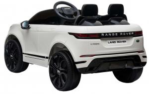 Masinuta electrica Premier Range Rover Evoque, 12V, roti cauciuc EVA, scaun piele ecologica, alb [5]