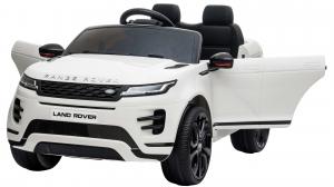 Masinuta electrica Premier Range Rover Evoque, 12V, roti cauciuc EVA, scaun piele ecologica, alb [10]