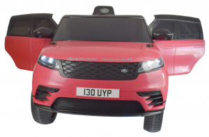 Masinuta electrica Premier Range Rover Velar, 12V, roti cauciuc EVA, scaun piele ecologica, roz [1]