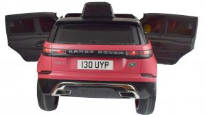Masinuta electrica Premier Range Rover Velar, 12V, roti cauciuc EVA, scaun piele ecologica, roz [4]