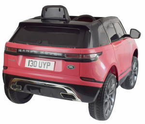 Masinuta electrica Premier Range Rover Velar, 12V, roti cauciuc EVA, scaun piele ecologica, roz [2]