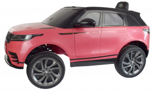 Masinuta electrica Premier Range Rover Velar, 12V, roti cauciuc EVA, scaun piele ecologica, roz [12]
